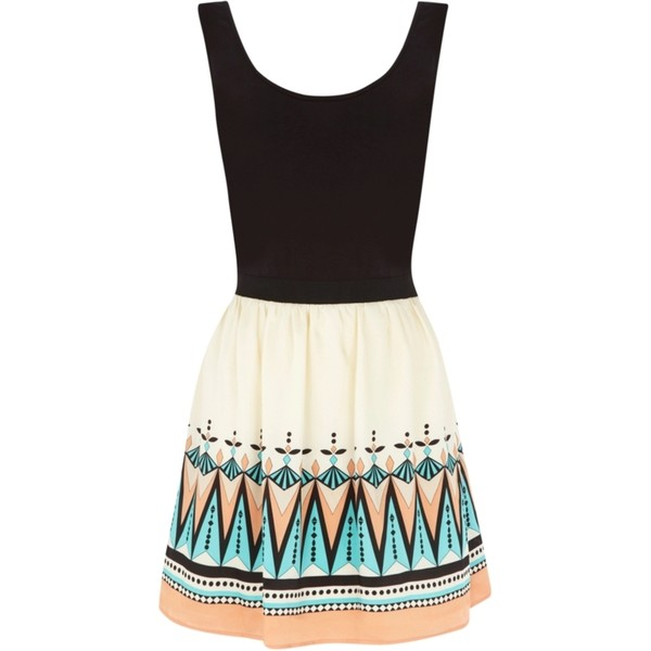 Oasis Deco Tribal 2 in 1 Dress, Multi - Polyvore