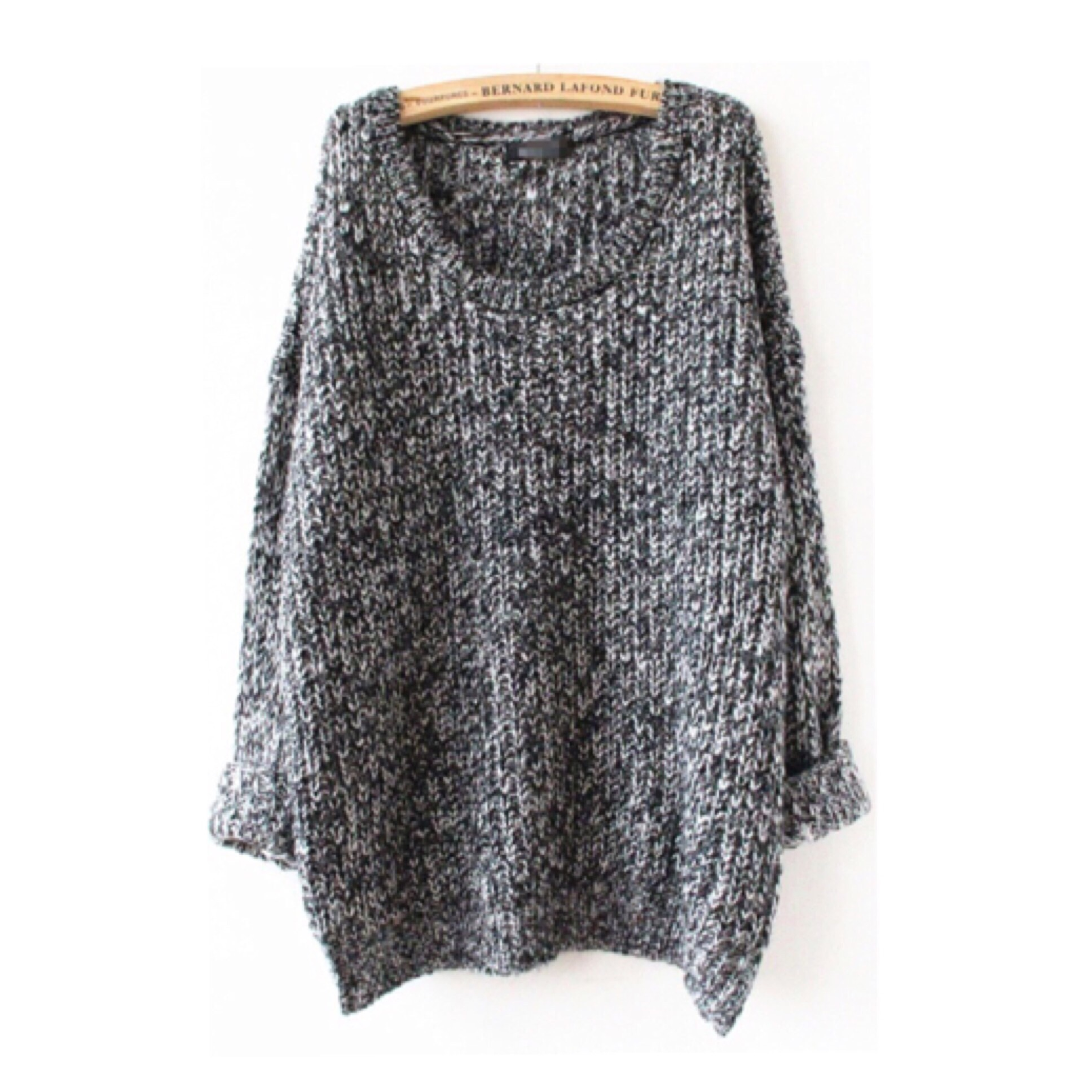 Grey sweater oversized knit pullover top from doublelw on storenvy