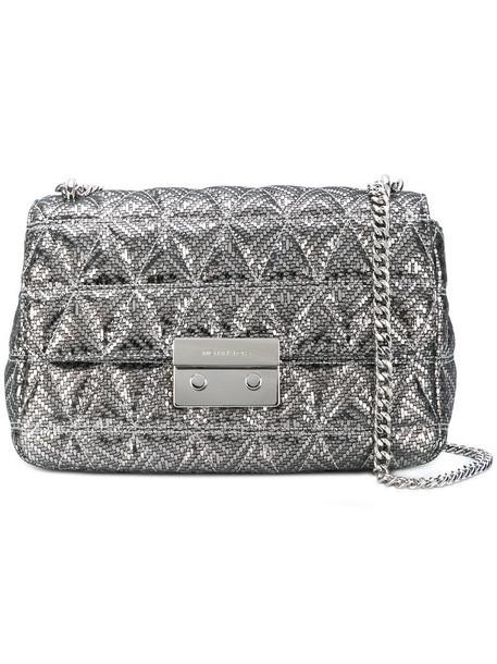 women bag shoulder bag grey metallic