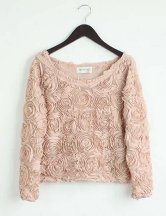 rose fleurs motif liberty sweater