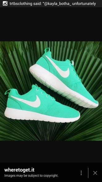 shoes nike shoes turquoise nike roshe run style helpmefind