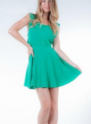 Mint green skater dress with