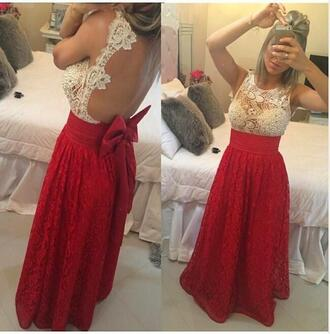 dress red vintage lace evening dresses backless evening dresses beaded evening dresses plus size prom dress 2016 evening dresses
