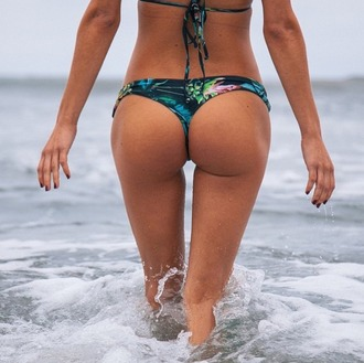 swimwear stone fox swim floral cheeky bottoms bikini