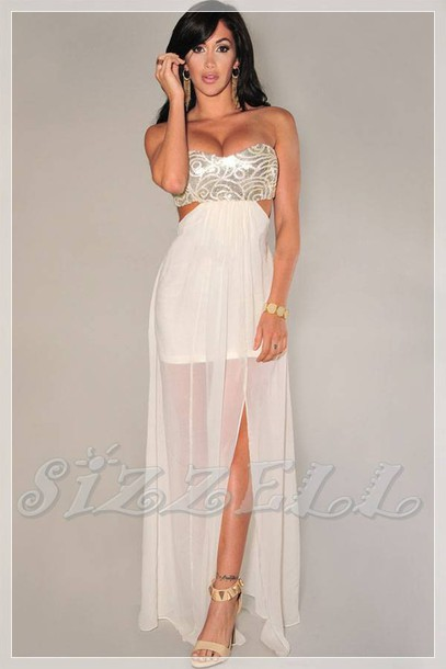 d626aecf5570 dress maxi dress maxi maxi skirt mini dress mini skirt strapless strapless  dress silver bling dress