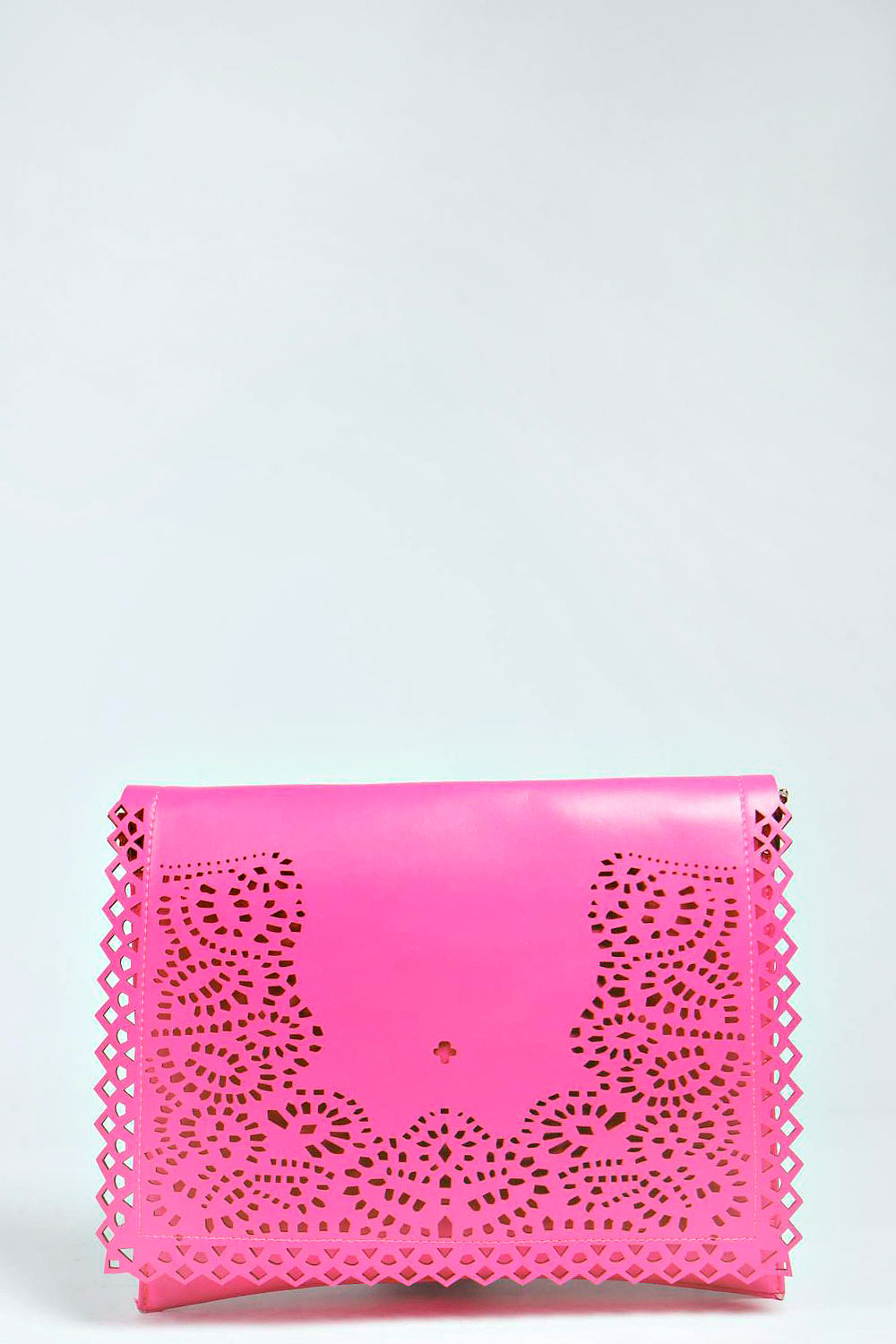 Kourtney Laser Cut Large Clutch