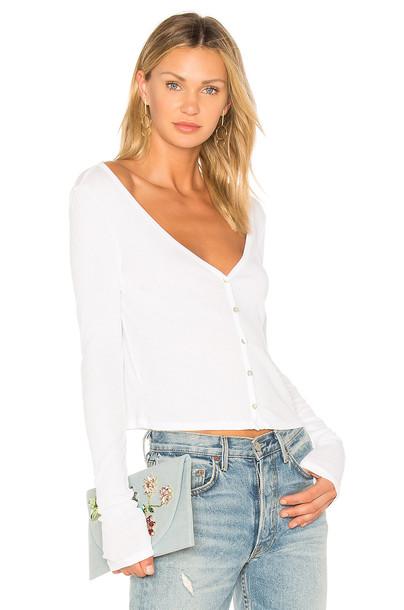 LA Made cardigan cardigan cropped white sweater