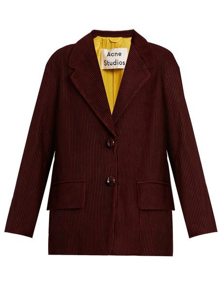 Acne Studios blazer burgundy jacket