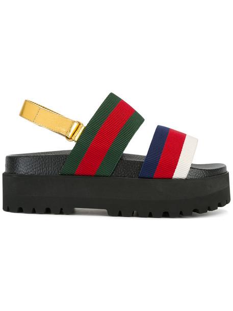 gucci women sandals platform sandals leather cotton red shoes