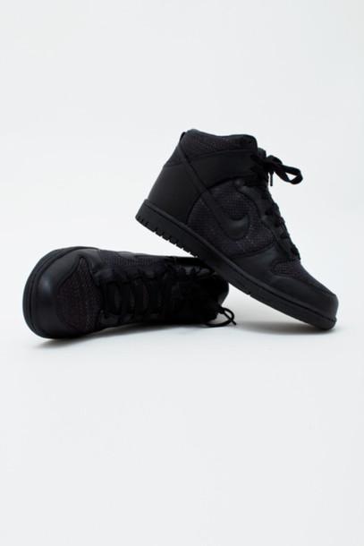 shoes, black, fashion, nike, snakers, style, urban, girl