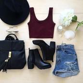 dress,shorts,taille haute,jeans,shoes,bottine,talon,noir