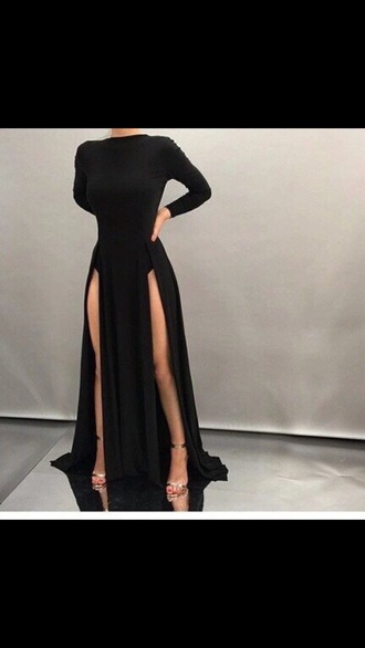 dress black dress slit dress black bodysuit black prom dress long black prom dresses black prom dresses 2016 black prom dresses long prom dress long prom dress sexy prom dress long sleeve dress long sleeve maxi dress long sleeve prom dresses evening dress long evening dress formal dresses evening sexy evening dresses formal dress sexy formal dress