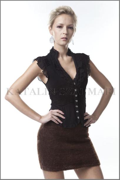 skirt brown skirt mini skirt fuzzy mohair skirt body hugging skirt fitted skirt