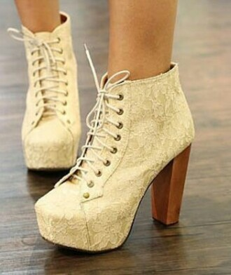 shoes white high heels lace up lace up heels lace up ankle boots wooden heel prom shoes cute high heels tights white lace