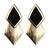 ROMWE | Neon Rhombus Golden Earrings, The Latest Street Fashion
