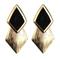 Romwe   neon rhombus golden earrings, the latest street fashion