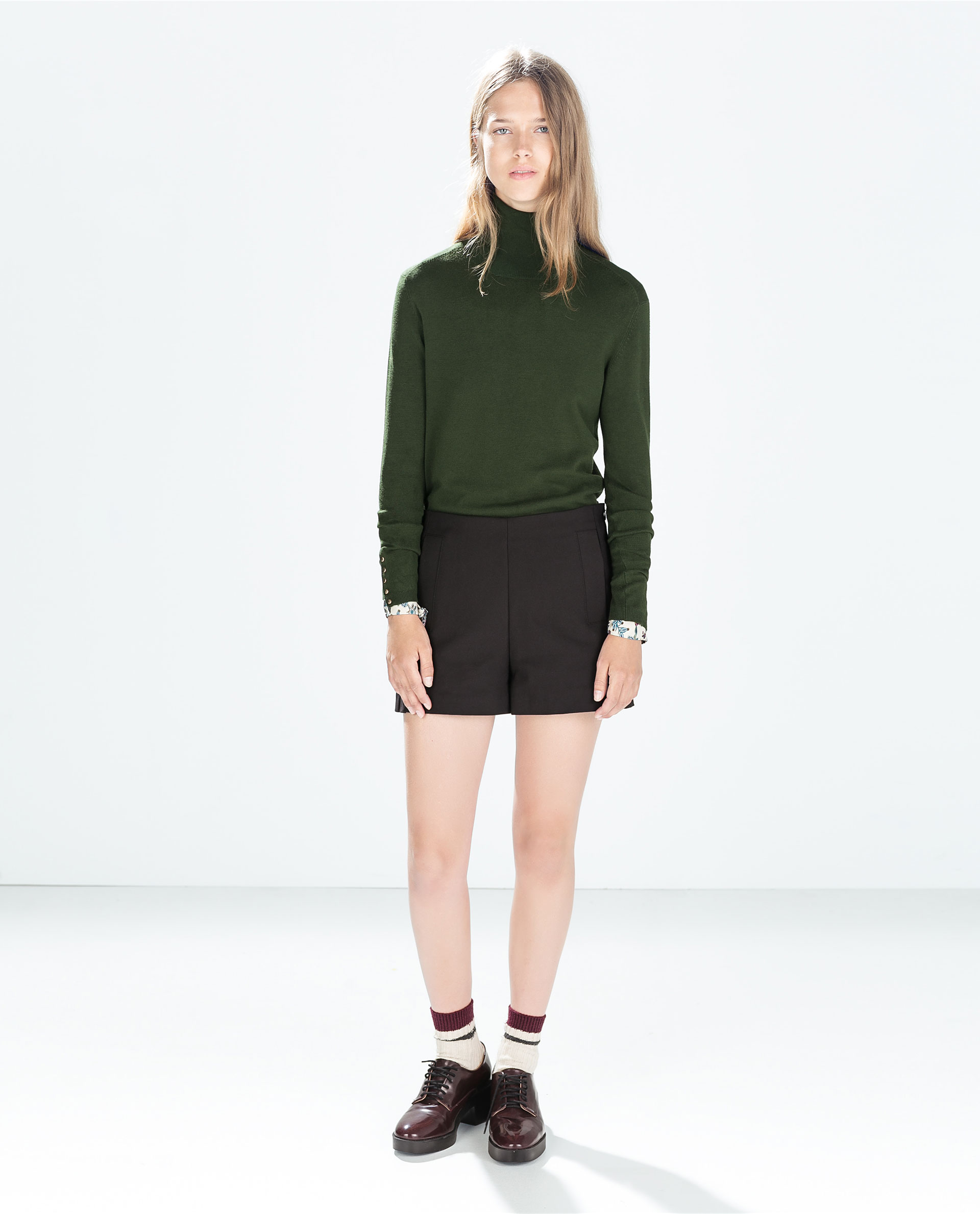 high waisted shorts trf trousers woman zara united