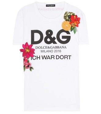 t-shirt shirt cotton t-shirt embellished cotton white top