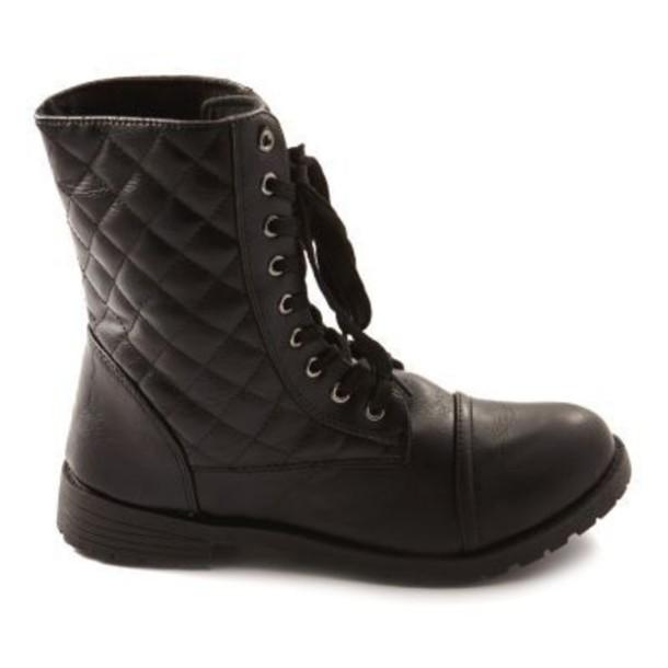 Quilted Combat Boots Boots Quilted Combat Boots