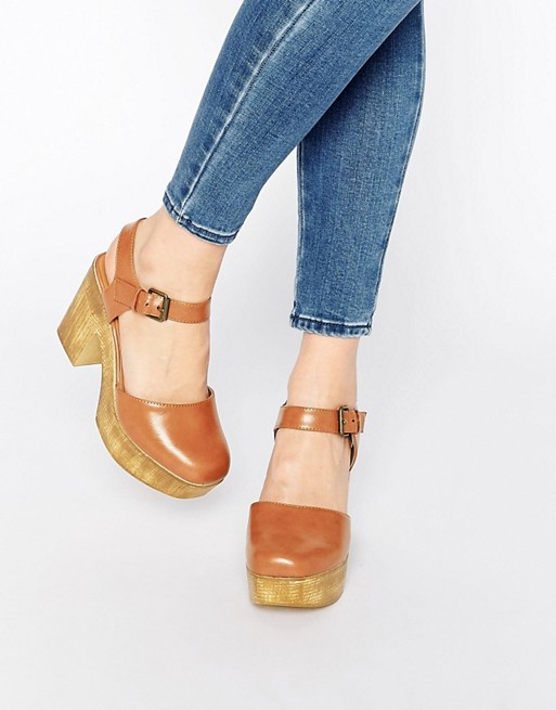 Truffle Collection Camari Platform Clog Heeled Shoes at asos.com