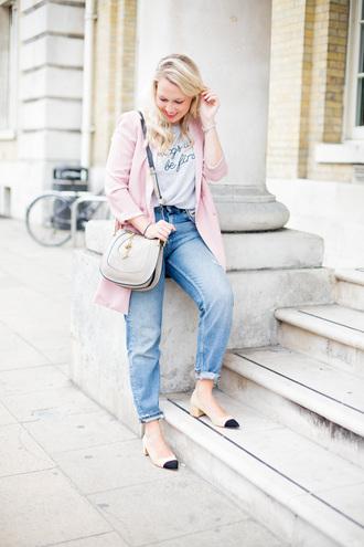 british fashion blog - mediamarmalade blogger jeans jacket t-shirt shoes