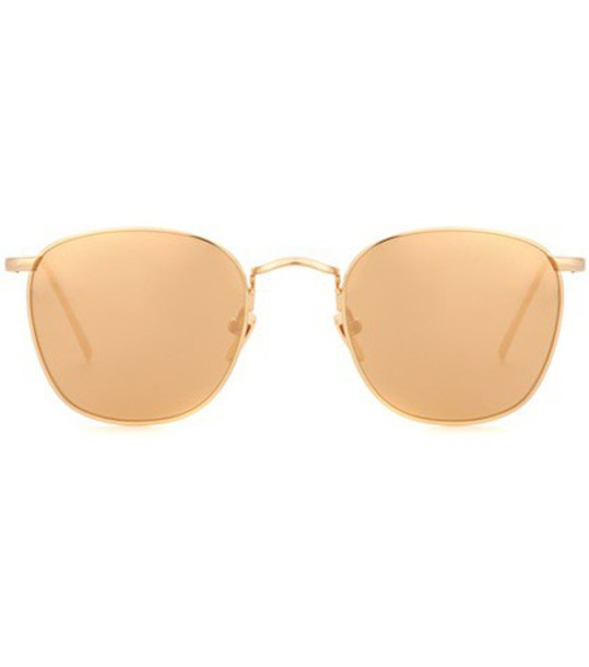 Linda Farrow Round sunglasses in gold