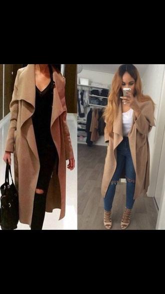 coat long coat camel coat