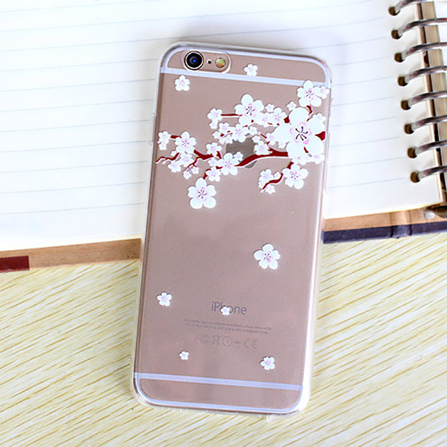 best service 75a9d 493cb Online Shop Elegant Japanese Spring Sakura Flower Cell Phone Case For  iPhone 5 5s Soft TPU Cherry Blossoms Mobile Phone Cover Funda  Capa|Aliexpress ...
