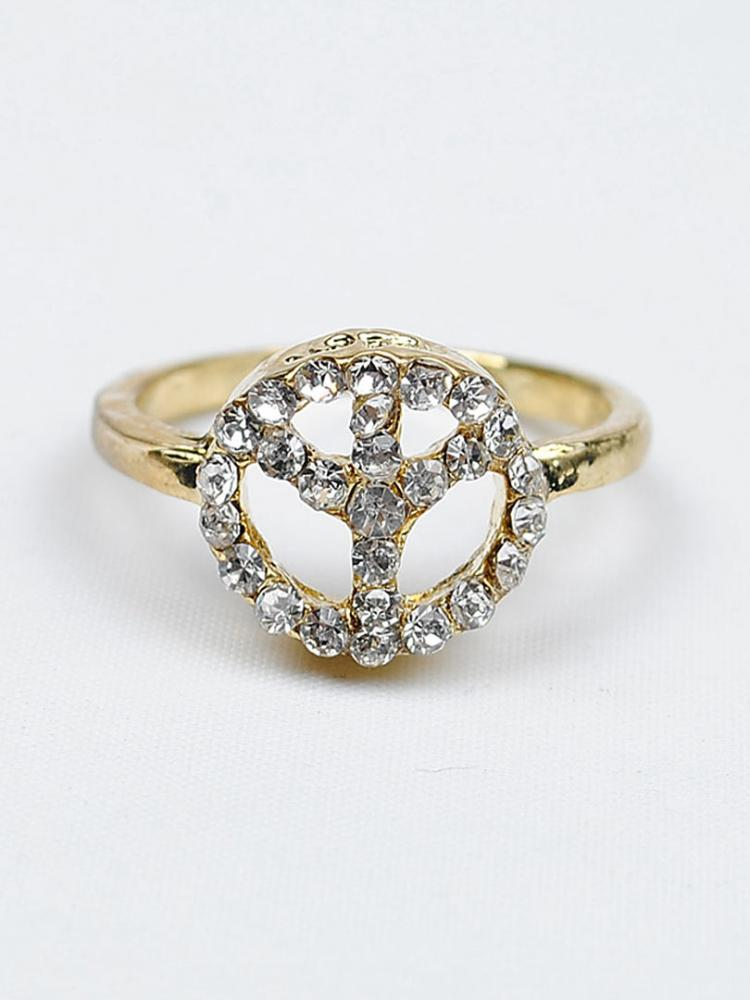 Gorgeous Alloy Gold Plated with Crystal Rhinestone Fashion Ring | Choies