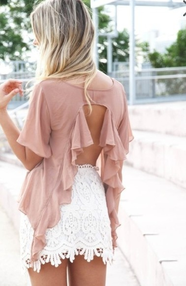 shorts t-shirt pretty pink girly flowered shorts girly outfit dope open back