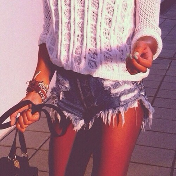 shorts denim shorts sweater denim