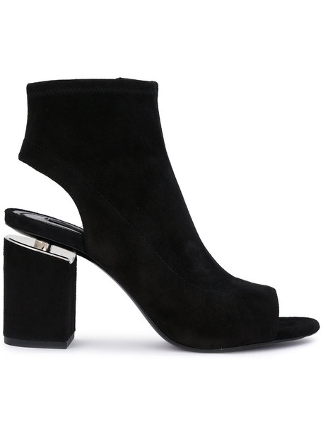 Alexander Wang women ankle boots leather black shoes
