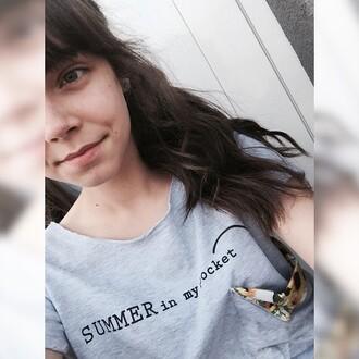 t-shirt yeah bunny summer pocket summer in my pocket sunflower