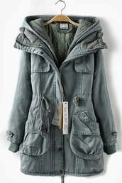 coat,drawstring trenchcoat,jacket,green,winter outfits,winterjacket,fall jacket,fall outfits,warm,hot,soft,fall sweater,anorak,winter jacket,hooded jacket,lined,greycoat,neutral,winter coat,khaki hooded fall jacket,grey,fall coat,hoodie,hooded,parka,anorack,cold,beautiful,girl,blue