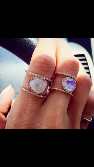 jewels stones crystal rings silver diamond ring purple jewels white jewels
