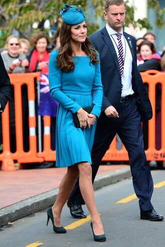 shoes pumps kate middleton dress blue dress turquoise classy