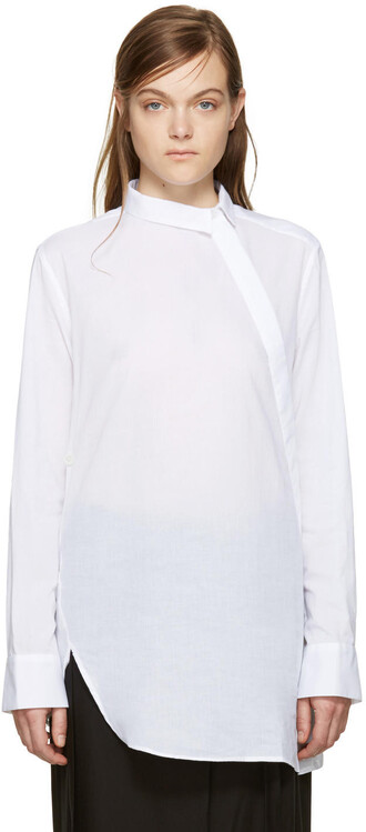 shirt back draped white top