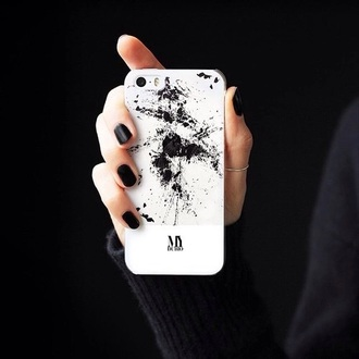 phone cover black white phone iphone case cases pretty fashion smashed smash effect different