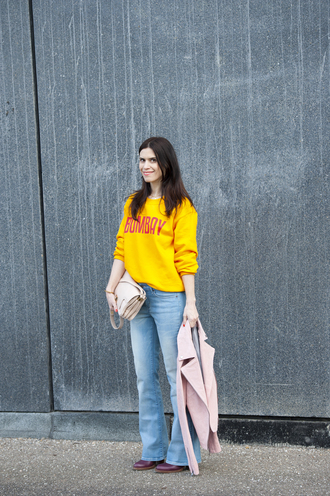 punky b blogger jacket mustard pink jacket shoes