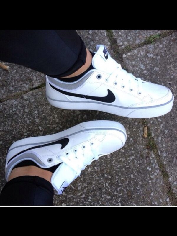 shoes white sneakers nike