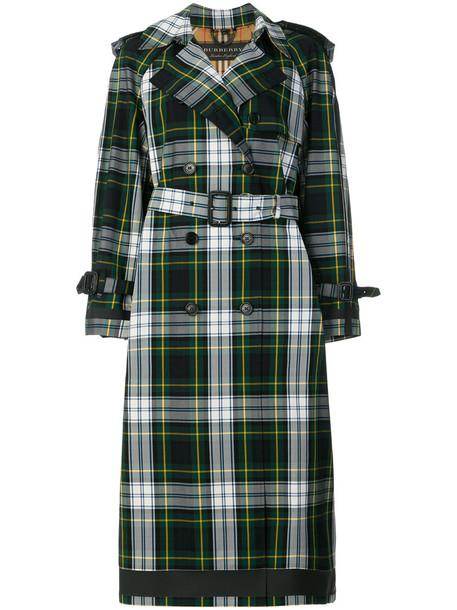 Burberry coat trench coat women cotton blue