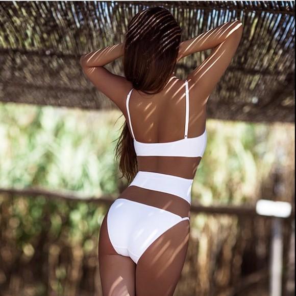 swimwear white swimwear one piece swimsuit