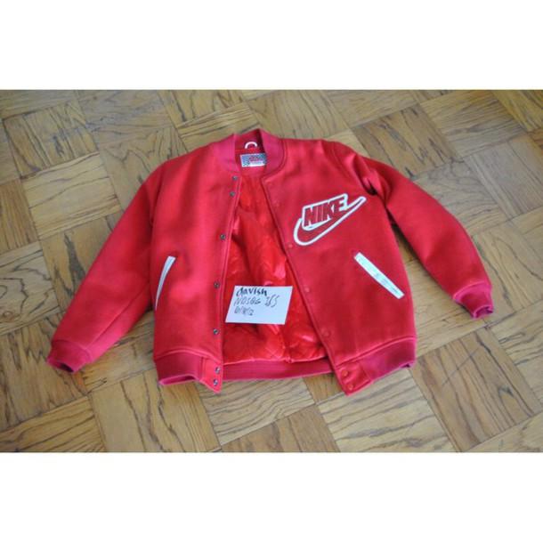 jacket red nike sb suprême nike jacket bomber jacket pink pink jacket