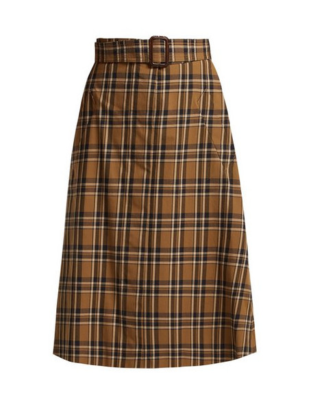 S Max Mara - Jack Skirt - Womens - Tan Multi