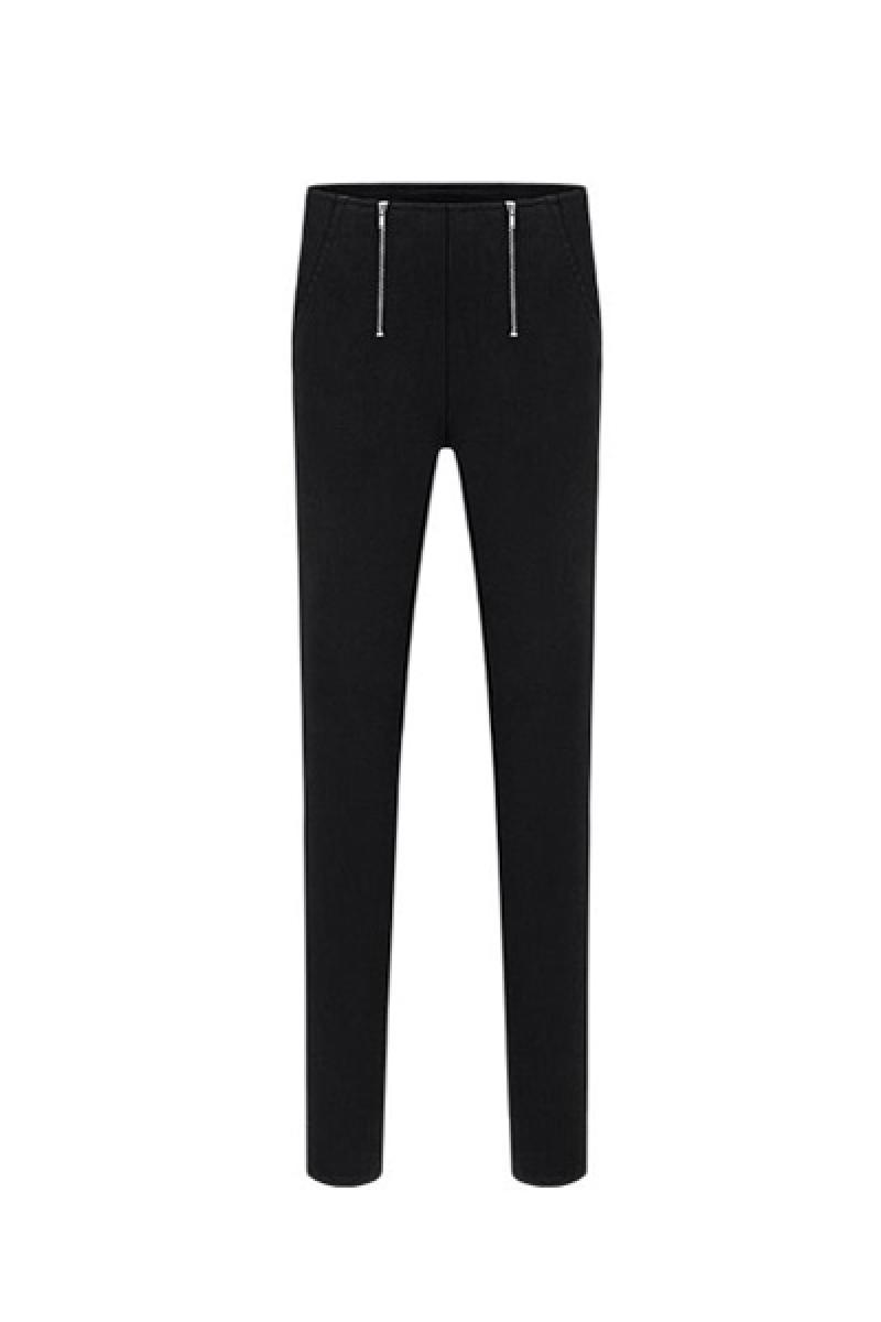Autumn & Winter New Section Ladies Double Zippers Casual Carrot Pants,Cheap in Wendybox.com