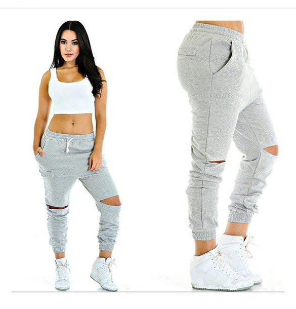 0ab0ac93c69 pants sweatpants outfit summer outfits spring outfits cute outfits sneakers  style shoes white shoes ripped cute