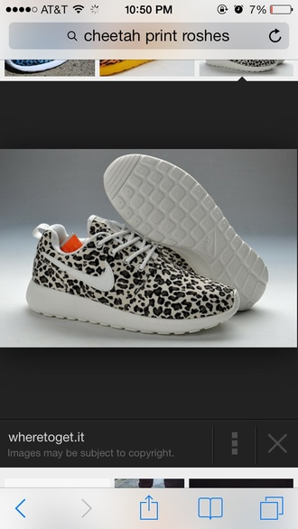 shoes nike roshe run nike roshe runs leopard print white