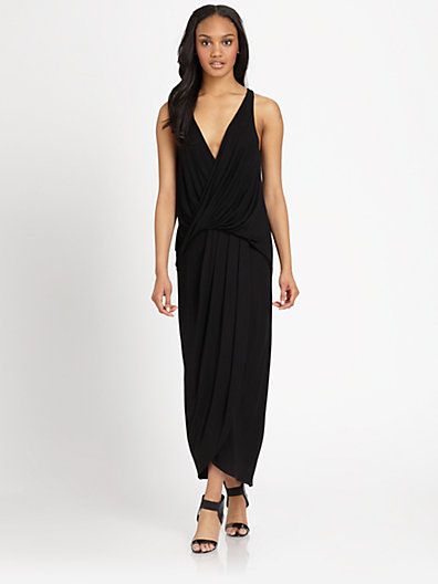 draped jersey maxi dress saks fifth avenue dresses