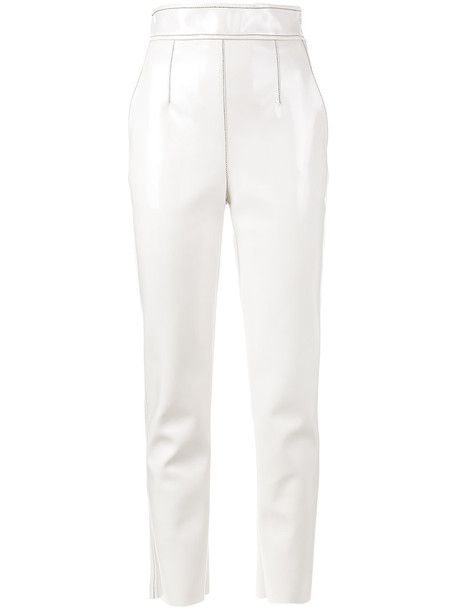 Philosophy di Lorenzo Serafini high women nude cotton pants