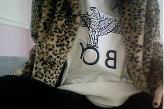 jacket leopard print winter coat coat hipster hipster punk punk rock black top